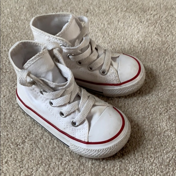 Converse Shoes   White Baby Size 5 High